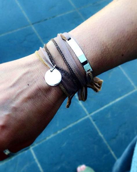 Bracelet sun soie de thailande