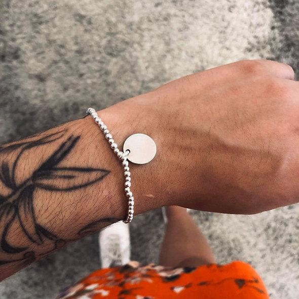 Bracelet élastique argent