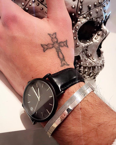 Bracelet ouvert homme argent