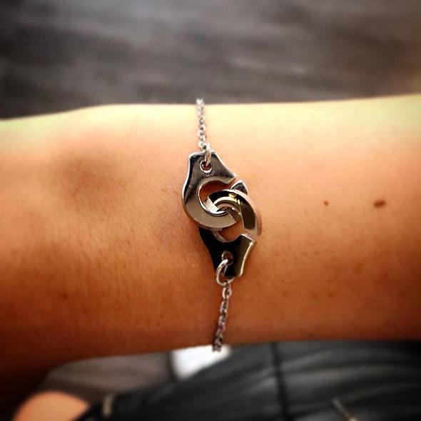 Bracelet menotte acier