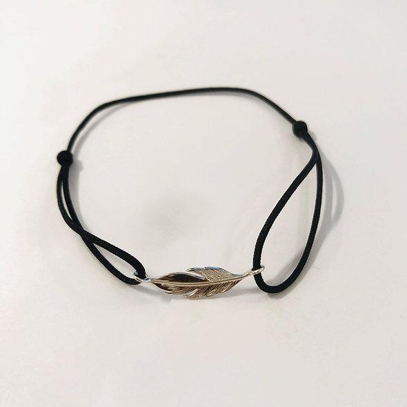 Bracelet coulissant plume
