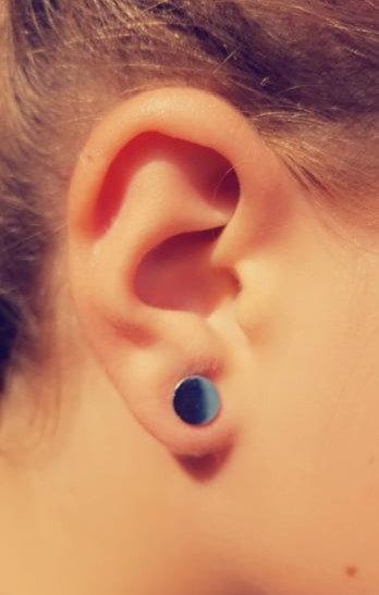 Boucle d'oreille puce medium acier