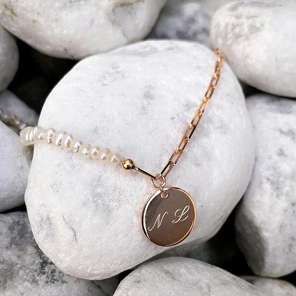 Bracelet Mia plaque or