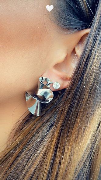 Boucle d'oreille acier inoxydable