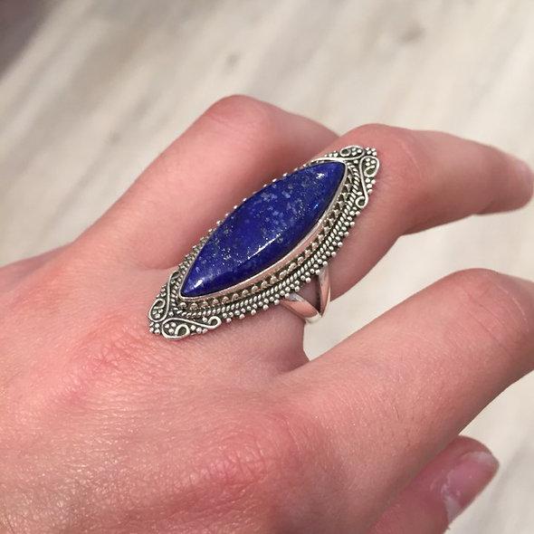 Bague pierre fine, lapis-lazuli ♥