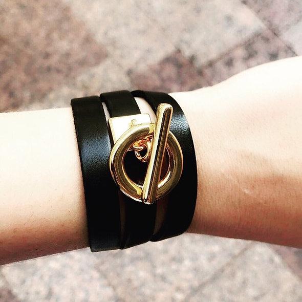 Bracelet cuir slash zéro