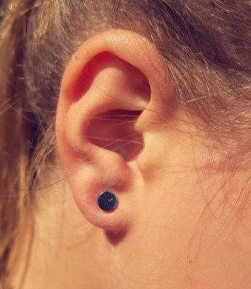 Boucle d'oreille mini puce acier