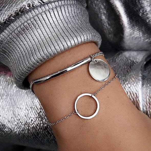 Bracelet barrette pampille  argent 925