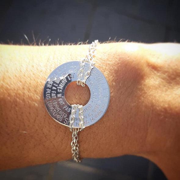 Gravure pour bracelet alegria