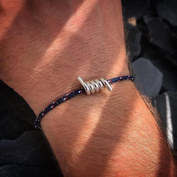Bracelet homme ressort argent