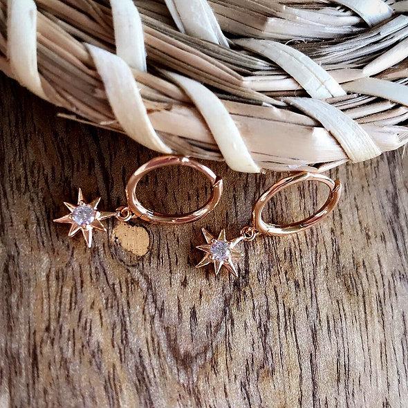 Mini créole étoile plaque or