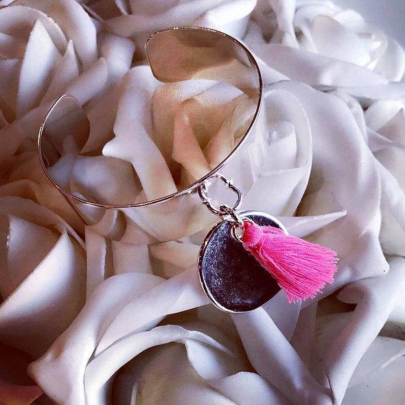 Manchette spring pampille ponpon couleur