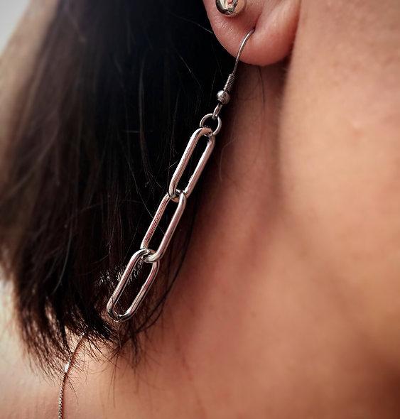 Boucle d'oreille Sahab acier inoxydable