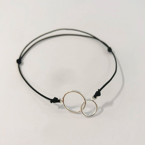 "Bracelet coulissant ""toi& moi"""