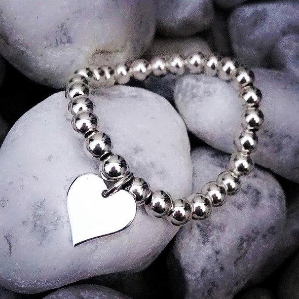 Bracelet Aurore perles coeur