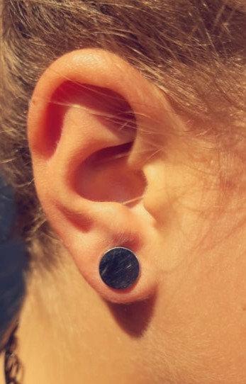 Boucle d'oreille puce XL acier