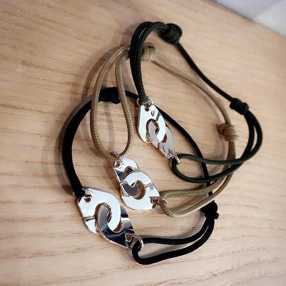 Bracelet menotte petit model argent
