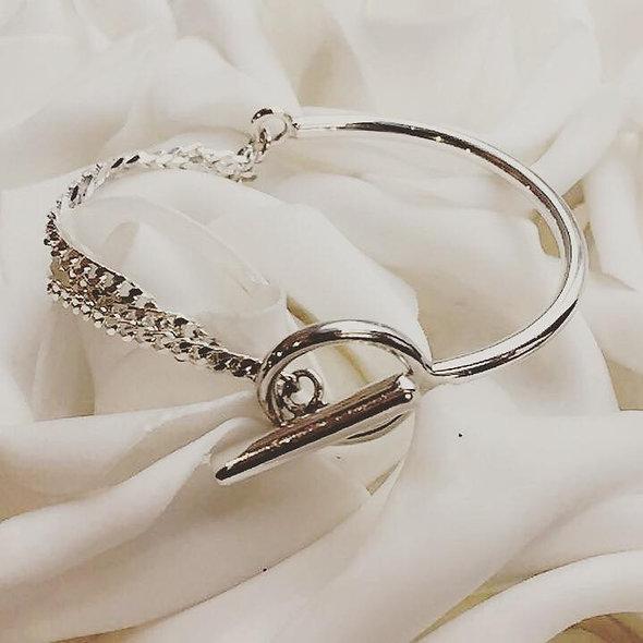 Bracelet demie chaine slash zéro