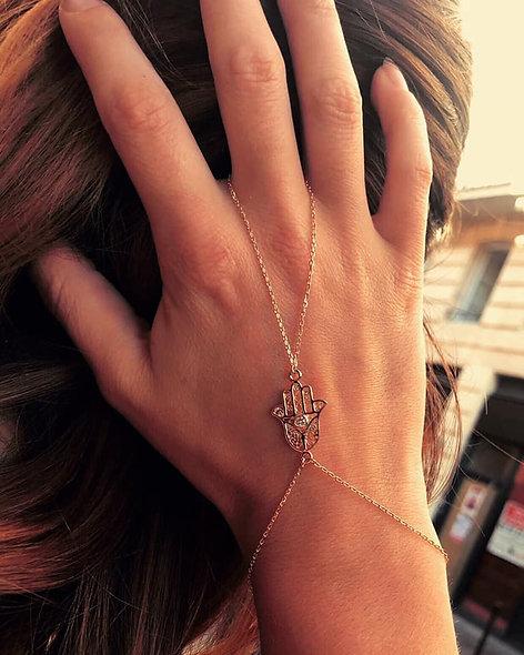 Bracelet main plaqué