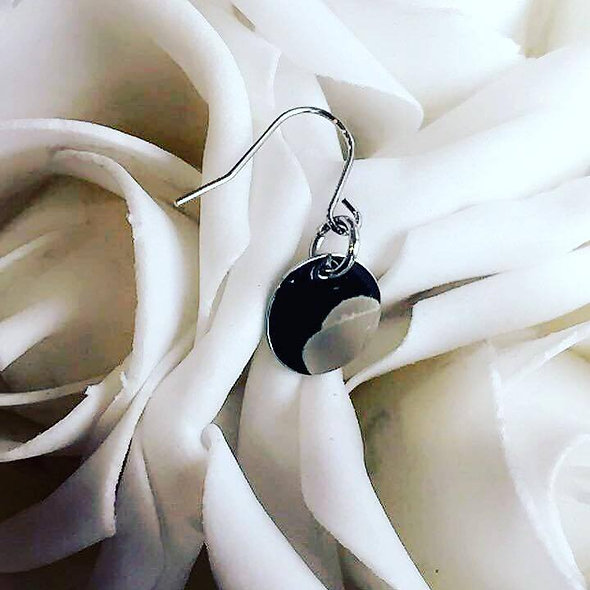 Boucles d'oreilles pampille acier