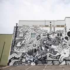 Collaborative Mural made by all Artists