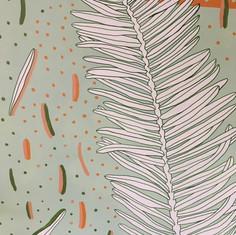 Redwood Mural - closeup