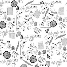 Pen+Pine Pattern