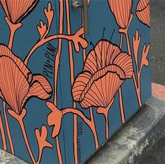 Utility Box Mural Design - detail