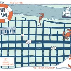 Pub Crawl Map
