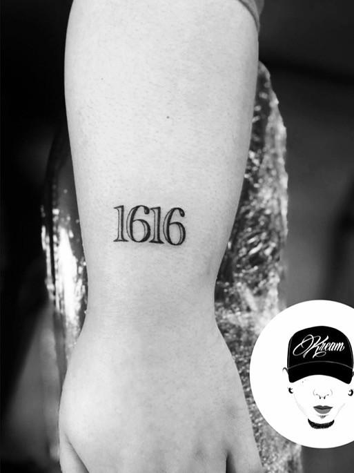 numbers tattoo