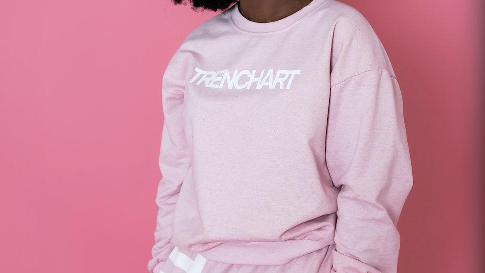 TRENCHART babypink sweatsuit 2 piece