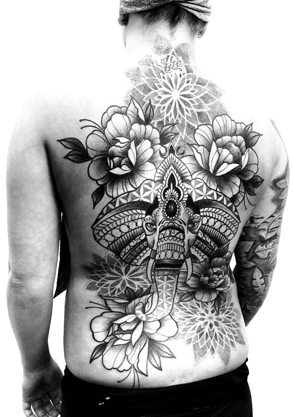 backpiece mandala
