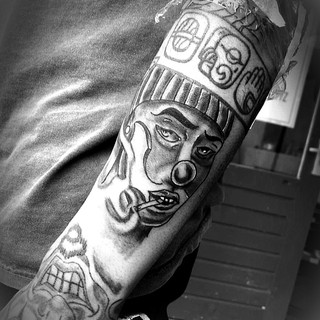 chicano clown tattedseb