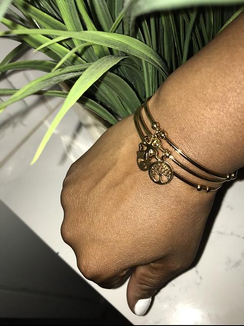 Gold Charm Bracelets