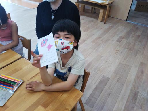 6月21日 花の日カード作り