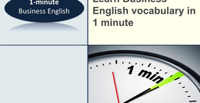 1-Minute Business English - Improve your business English vocabulary in 60 seconds - 'to focus on'