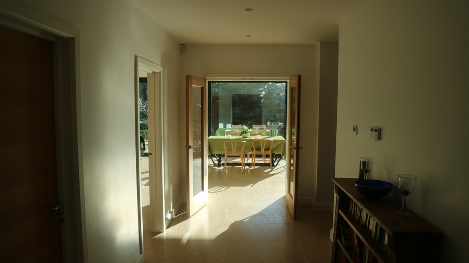 View Through from the Hall to the Kitchen and Garden Beyond