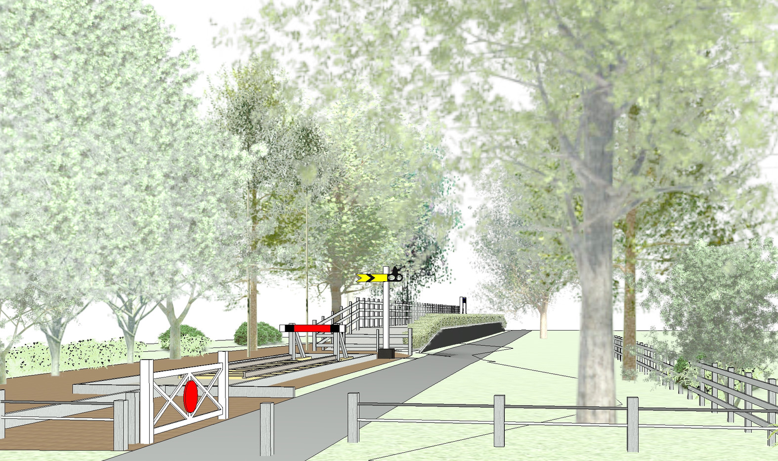 Visualisation of railway track
