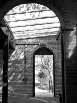 Church remodel, covered walkway