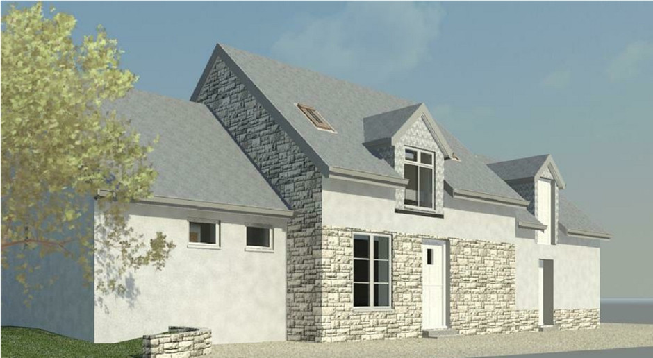 Extension in France, front 3D view