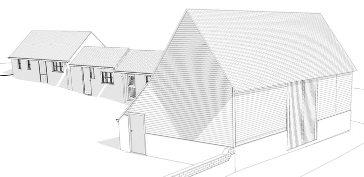 Computer model of the barn