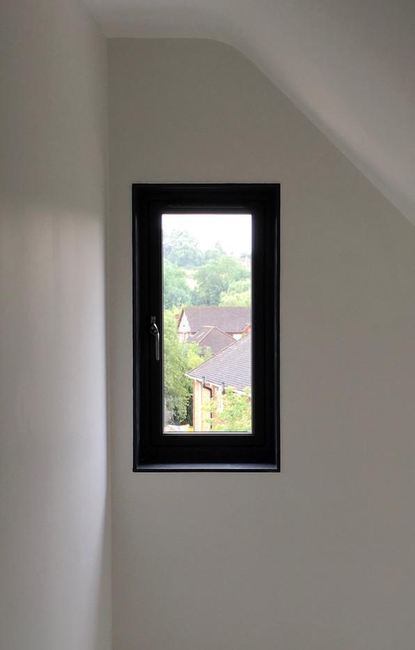 Framed window reveal