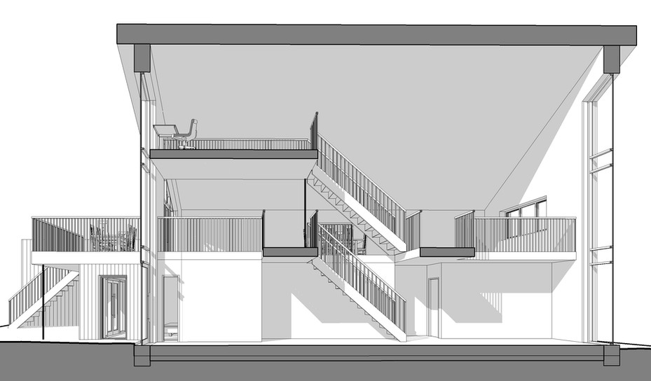 Long perspective section