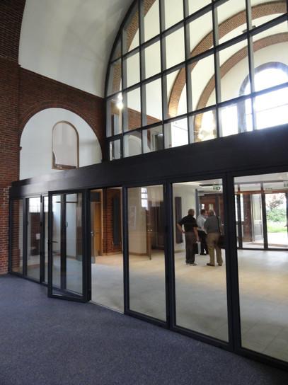 Entrance foyer and mezzanine above