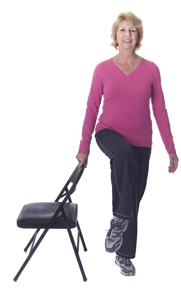 knee, hip, ballance exercise