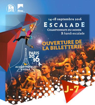 Championnats du Monde Escalade 14-18 sept. Paris