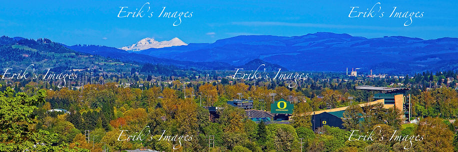 Two Sisters Watching Over Autzen panoramic