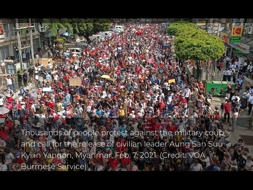 Invitation to a Virtual March in Myanmar (Burma) - by Rosemarie Hunter & Carey Treado