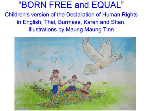 "Maung Maung Tinn illustrates ""BORN FREE and EQUAL"""