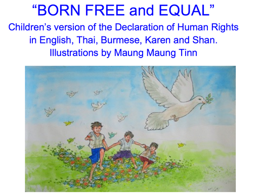 "Maung Maung Tinn illustrates ""BORN FREE and EQUAL"""